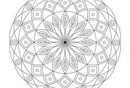 Volwassen kleurplaat mandala 4