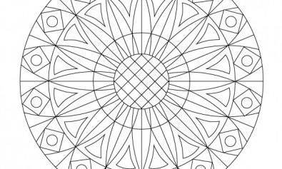 Volwassen kleurplaat mandala 6