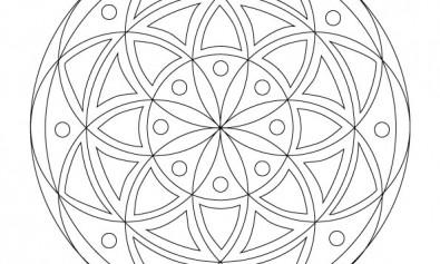 volwassen kleurplaat mandala 1