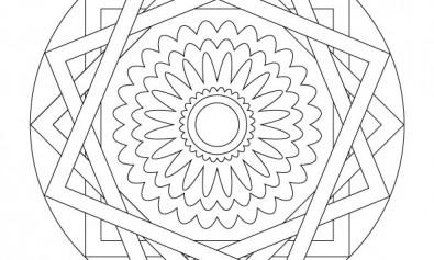 volwassen kleurplaat mandala 2