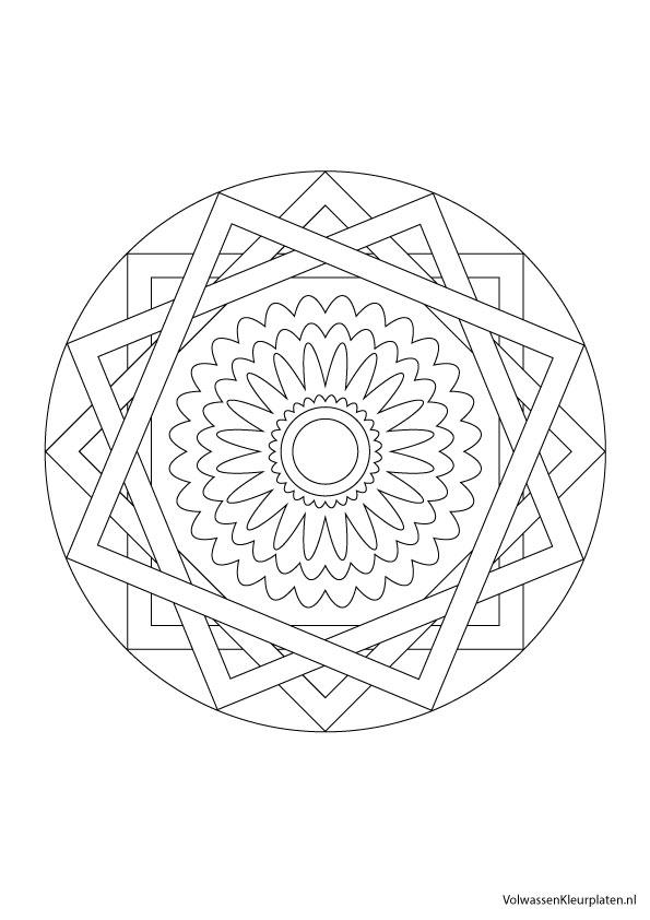 Volwassen Kleurplaat Mandala 2 Volwassen Kleurplaten