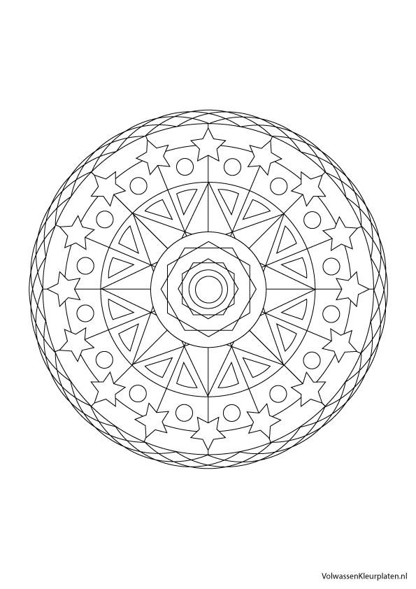 Volwassen Kleurplaat Mandala 5 Volwassen Kleurplaten