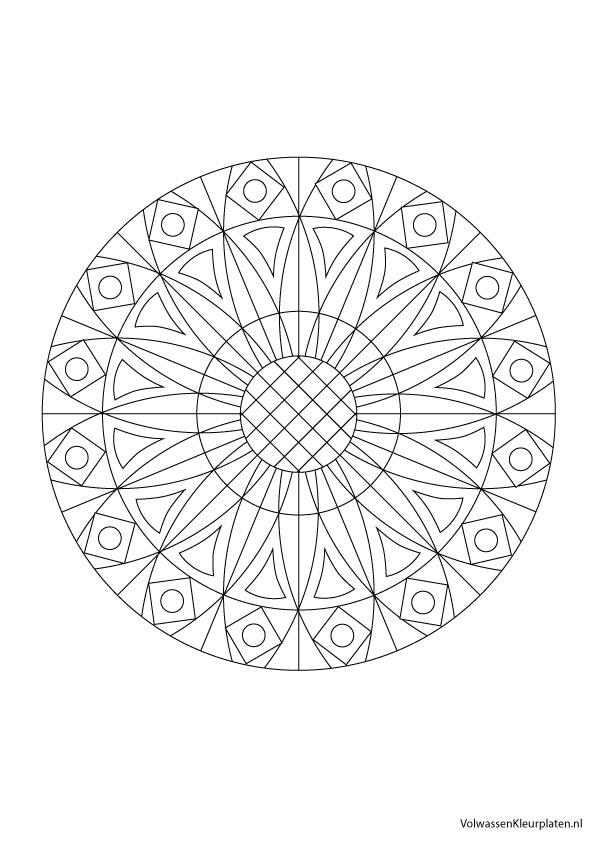 Volwassen Kleurplaat Mandala 6 Volwassen Kleurplaten
